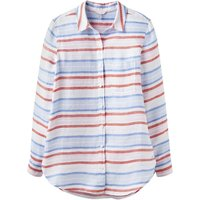 Joules Jeanne Print Linen Shirt Red 16