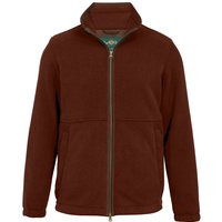 Alan Paine Mens Aylsham Windblock Fleece Jacket Russet Medium