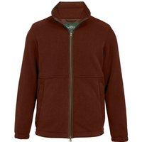 Alan Paine Mens Aylsham Windblock Fleece Jacket Russet XXL