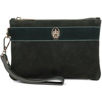 Hicks and Brown Womens Chelsworth Clutch Bag Olive Green One