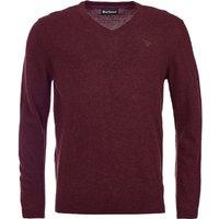 Barbour Mens Essential Lambswool V Neck Sweater Merlot XXL