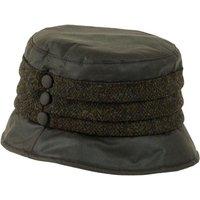 Heather Amy Wax Tweed Pleat Hat Brown Barleycorn One