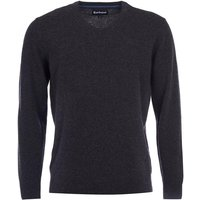Barbour Mens Essential Lambswool V Neck Sweater Charcoal Small