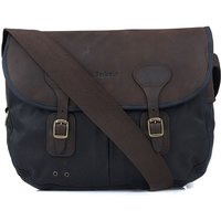 Barbour Wax Leather Tarras Bag Navy One