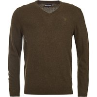 Barbour Mens Essential Lambswool V Neck Sweater Olive Marl Small