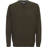 Barbour Mens Essential Lambswool V Neck Sweater Seaweed Small
