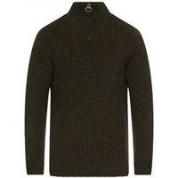 Barbour Mens New Tyne Half Zip Sweater Olive XL