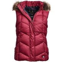 Barbour Womens Downhall Gilet Deep Pink 8