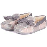 Barbour Sadie Mocassin Slippers Pink/Grey 6 (EU39)
