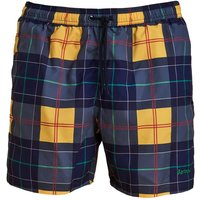 Barbour Tartan Swim Short Yellow Small