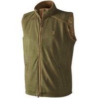 Harkila Mens Sandhem Fleece Waistcoat Olive Green XXL