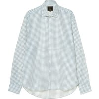 Purdey Men's Classic Tattersall Shirt Pale Blue 16.5