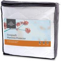 The Fine Bedding Company Sleepsoft Mattress Protector White Single