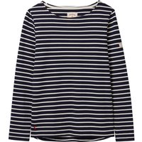 Joules Harbour Long Sleeve Jersey Top Navy Cream Stripe  8