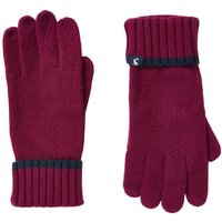 Joules Snowday Knitted Gloves Berry Blush