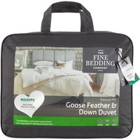 The Fine Bedding Company Goose Feather and Down Duvet  Double