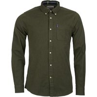 Barbour Mens Herringbone 1 Tailored Shirt Forest Small