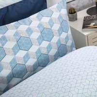 Belledorm Prism Duvet Set Cobalt Single