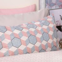 Belledorm Prism Duvet Set Coral Single