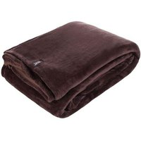 Belledorm Heat Holders Luxury Fleece Blanket Hot Chocolate One