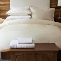 Belledorm Hotel Suite Satin Stripe Duvet Set Ivory Double