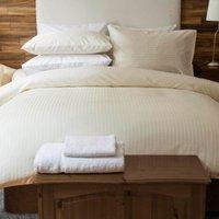 Belledorm Hotel Suite Satin Stripe Duvet Set Ivory King