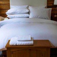 Belledorm Hotel Suite Satin Stripe Duvet Set White Double