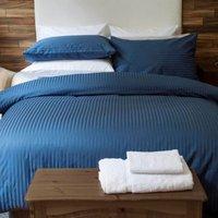 Belledorm Hotel Suite Satin Stripe Duvet Set Navy King