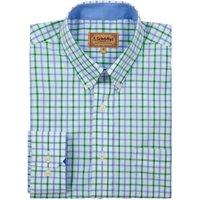 Schoffel Mens Holkham Shirt Green Check 15.5 Inch