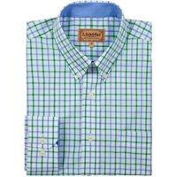 Schoffel Mens Holkham Shirt Green Check 17.5 Inch