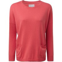 Schoffel Cotton Cashmere Crew Neck with Pockets Coral 14