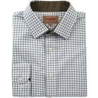 Schoffel Mens Cambridge Shirt Dark Olive 15 Inch