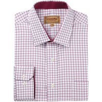 Schoffel Mens Cambridge Shirt Raspberry 18 Inch