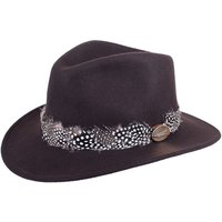 Hicks and Brown Womens Suffolk Guinea Wrap Fedora Brown XS