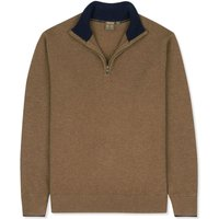 Musto Shooting Zip Neck Jumper Toffee Small