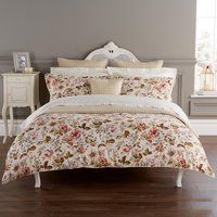 Christy Classic Rose Duvet Set In Russett  Single