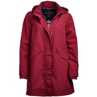 Barbour Weatherly Jacket Deep Pink/Navy 16