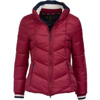 Barbour Womens Gangway Quilted Jacket Deep Pink/Navy 8