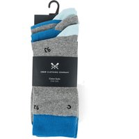 Crew Clothing 3 Pack Socks Lapis Logo One