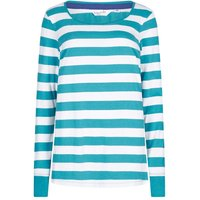 Lazy Jacks Womens LJ236 Long Sleeve Striped Top Larkspur 10