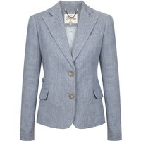 Dubarry Womens Blairscove Linen Blazer Blue 16