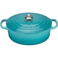 Le Creuset 25cm Cast Iron Oval Casserole Dish Teal