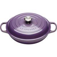 Le Creuset 30cm Cast Iron Shallow Casserole Dish Ultra Violet