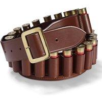 Croots Malton Bridle Leather Cartridge Belt Chesnut XL