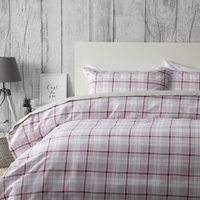 Belledorm Brushed Cotton Aspen Duvet Set Red Single