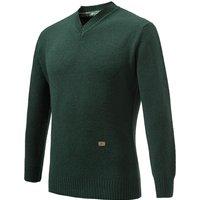 Beretta V Neck Wool Sweater Dark Green Small