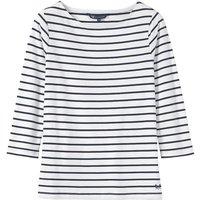 Crew Clothing Essential Ladies Breton White/Navy 10