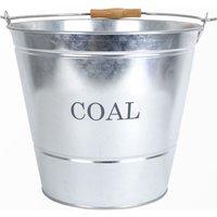 Manor Fireside Coal Bucket Galvanised Large