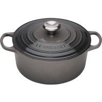 Le Creuset 20cm Cast Iron Casserole Dish Flint
