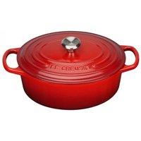 Le Creuset 25cm Cast Iron Oval Casserole Dish Cerise